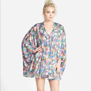 Nordstrom poncho floral dress